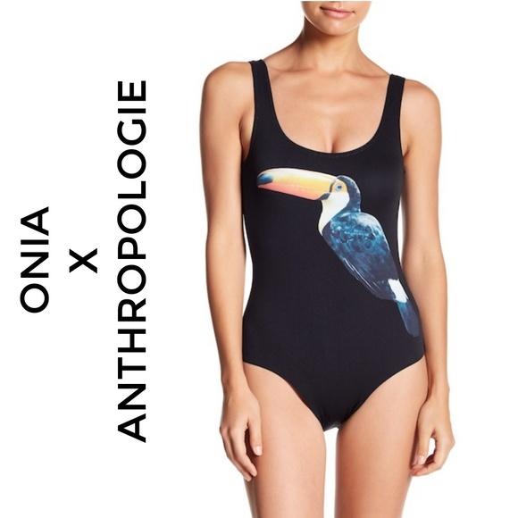 61d9e2a5c0a71 Anthropologie Swim   Anthro Onia Kelly Toucan One Piece Suit   Poshmark